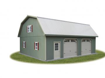 28x36 2 story gambrel garage