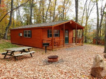double wide cabin with front porch
