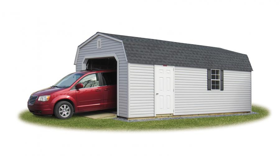 1 car garage with car