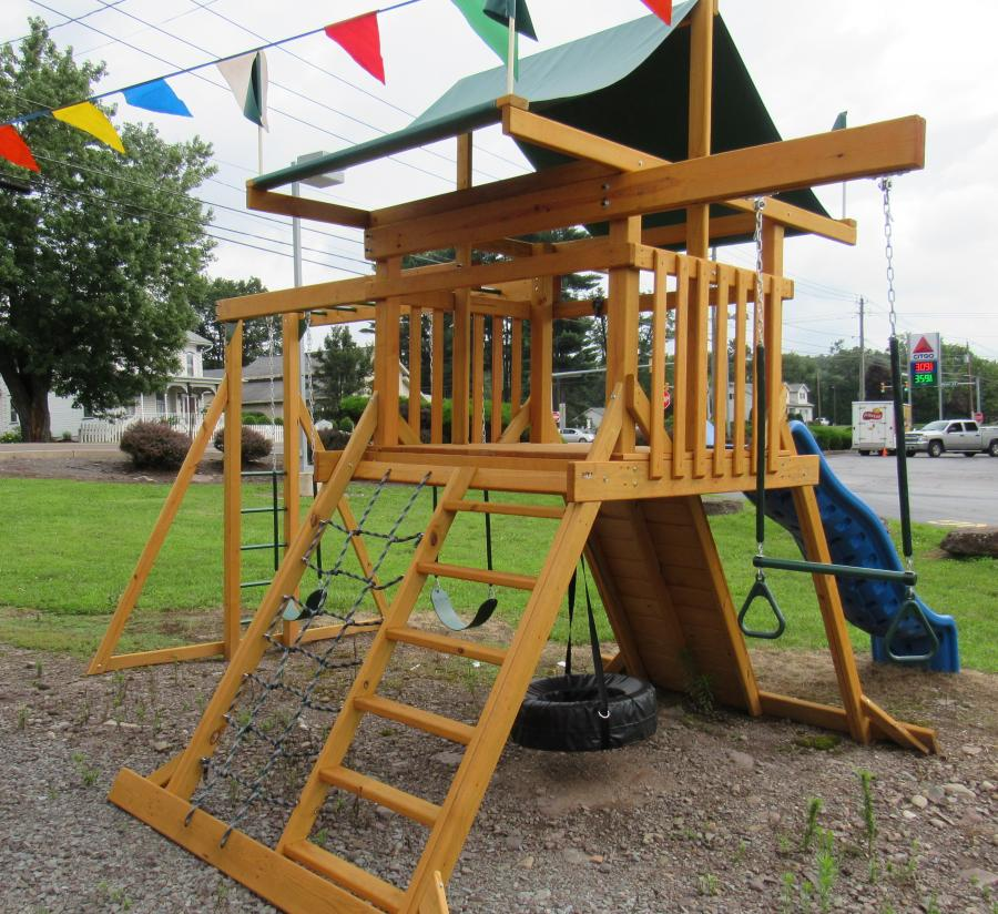 Model #1602 Wooden Swing Set