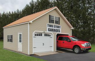 2-Story Double Wide Garage